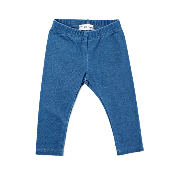 Lil Leggs Long Leggings in Medium Blue