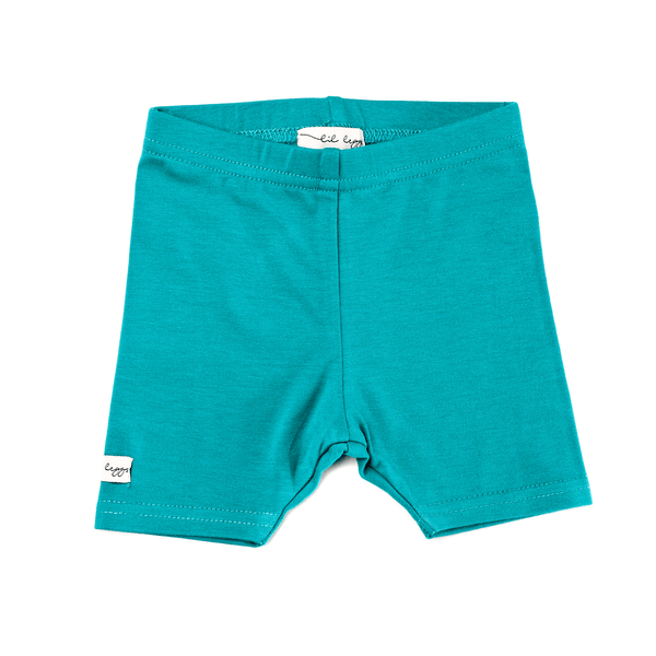 Lil Leggs Short Leggings in Teal