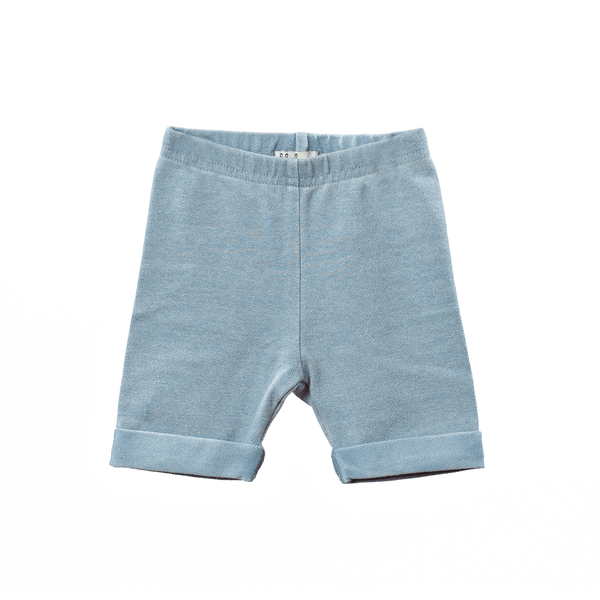 Lil Leggs Short Leggings in Chambray