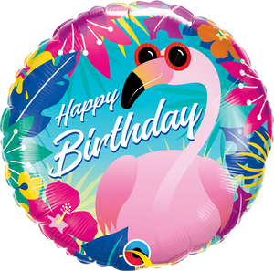 "18"" TROPICAL FLAMINGO - Uptown Parties & Balloons"
