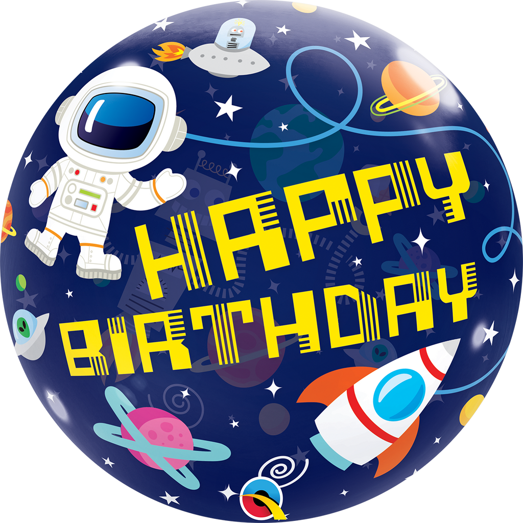 BUBBLE BIRTHDAY OUTER SPACE - Uptown Parties & Balloons