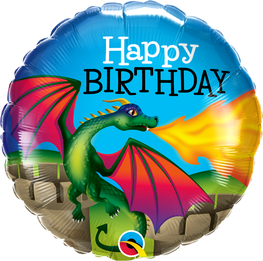 "18"" HAPPY BIRTHDAY MYTHICAL DRAGON - Uptown Parties & Balloons"