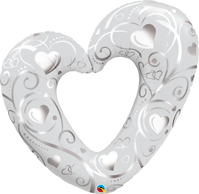 Hearts & Filigree Silver Super Shape
