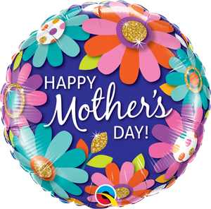 "18"" HAPPY MOTHER'S DAY FASHION FLORAL - Uptown Parties & Balloons"