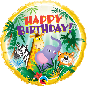 Birthday Jungle Friends - Uptown Parties & Balloons