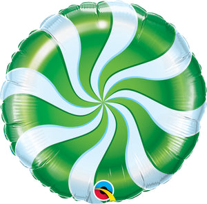 Candy Swirl Green - Uptown Parties & Balloons