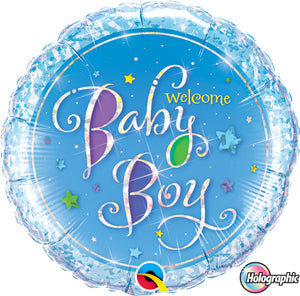 Welcome Baby Boy - Uptown Parties & Balloons