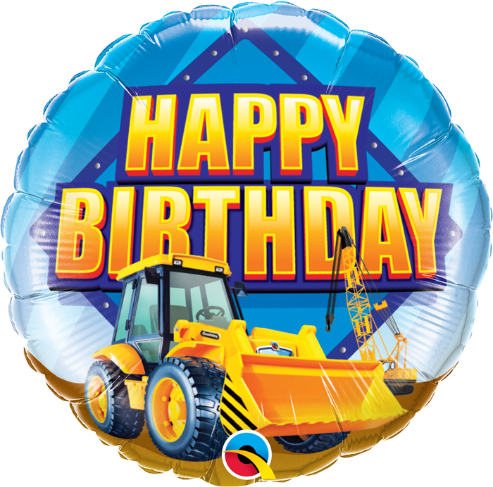"18"" Construction Zone Happy Birthday"