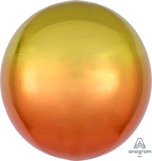 OMBRE ORBZ YELLOW/ORANGE - Uptown Parties & Balloons