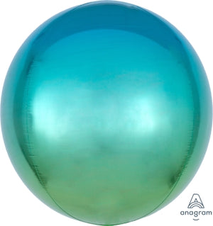 OMBRE ORBZ BLUE/GREEN - Uptown Parties & Balloons