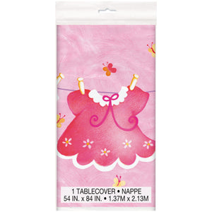 Pink Clothesline Tablecover - Uptown Parties & Balloons