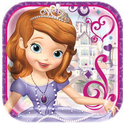 "Sofia The First 9"" plates - Uptown Parties & Balloons"