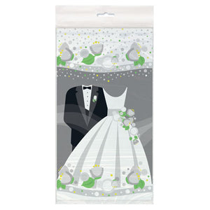 Silver Wedding Tablecover - Uptown Parties & Balloons