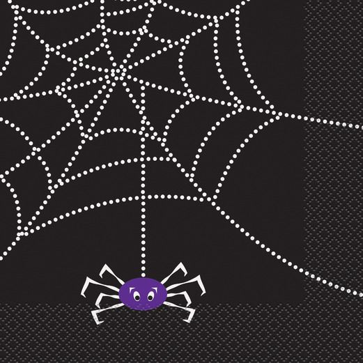 LUNCH NAPKINS SPIDER WEB - Uptown Parties & Balloons