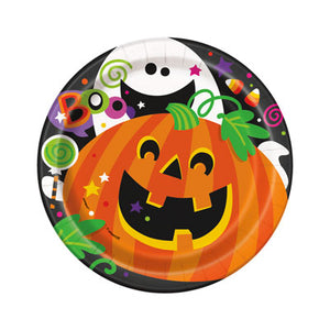 "HAPPY HALLOWEEN 7"" PLATES - Uptown Parties & Balloons"