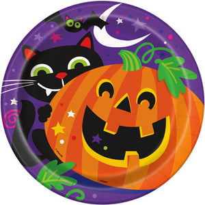 "HAPPY HALLOWEEN 9"" PLATES - Uptown Parties & Balloons"