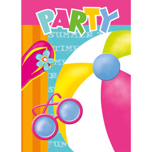 Pool Party Invitations - Uptown Parties & Balloons