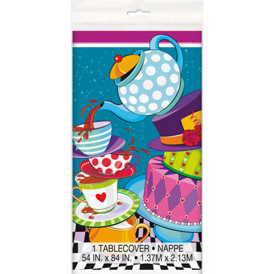 Mad Hatter Tablecover - Uptown Parties & Balloons