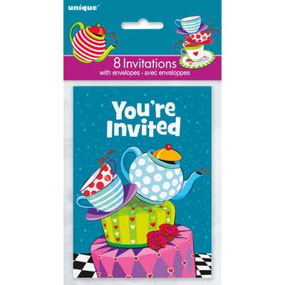 Mad Hatter Invitations - Uptown Parties & Balloons