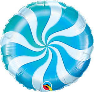 Candy Swirl Blue - Uptown Parties & Balloons