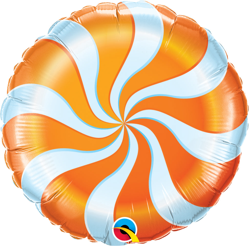 Candy Swirl Orange - Uptown Parties & Balloons