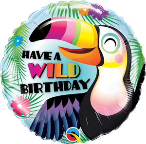 "18"" HAVE A WILD BIRTHDAY TOUCAN - Uptown Parties & Balloons"