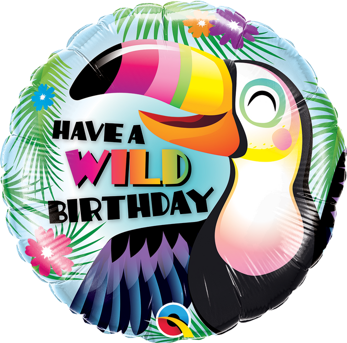 "18"" HAVE A WILD BIRTHDAY TOUCAN"