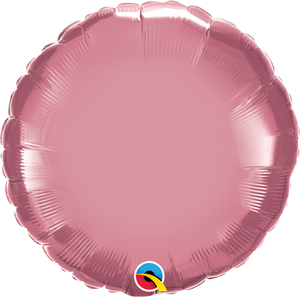 "18"" Chrome Mauve Round - Uptown Parties & Balloons"
