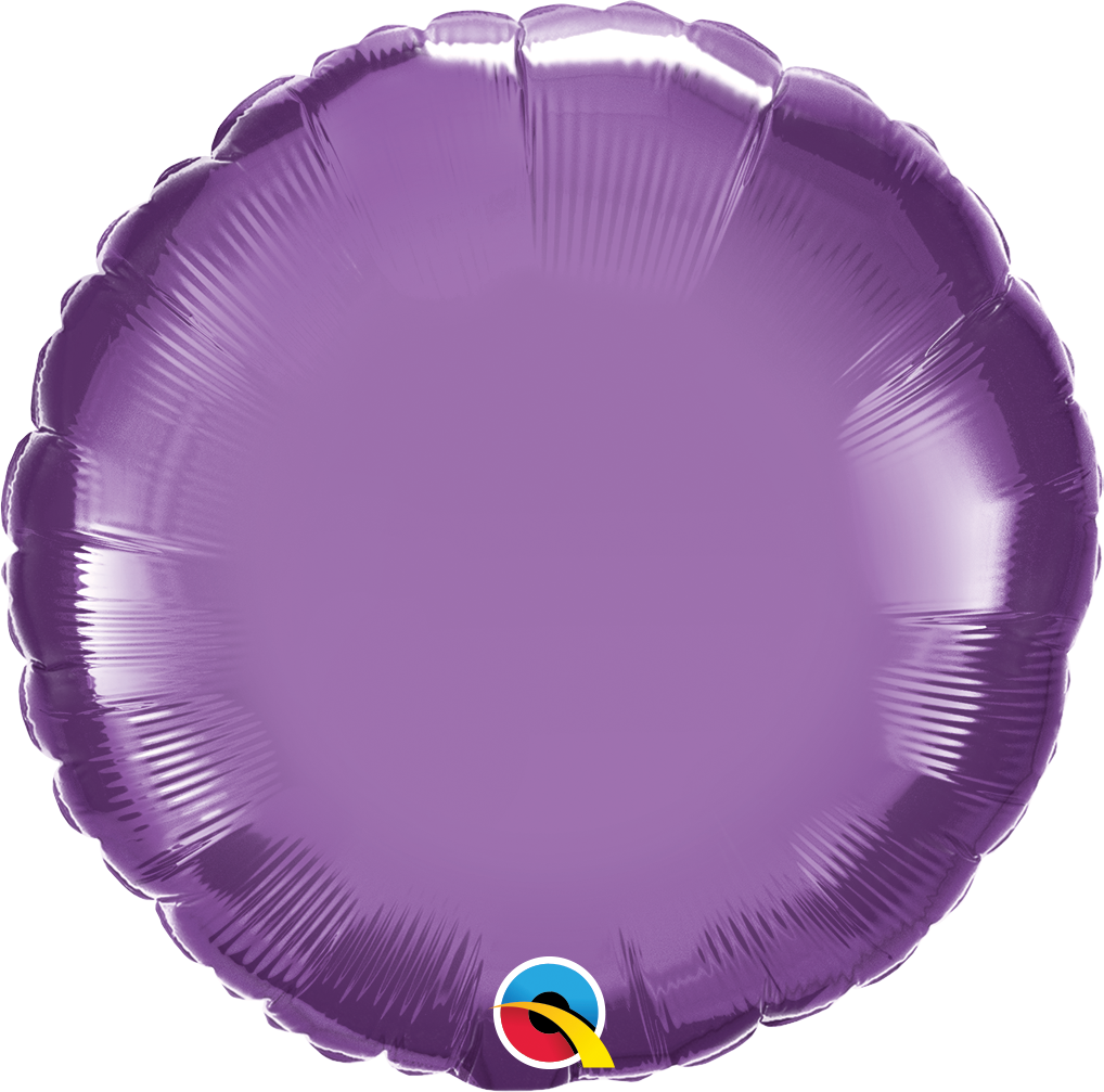 "18"" Chrome Purple Round - Uptown Parties & Balloons"