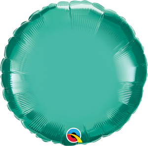 "18"" Chrome Green Round - Uptown Parties & Balloons"