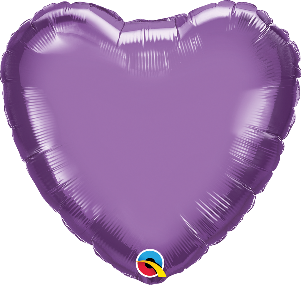 "18"" Chrome Purple Heart - Uptown Parties & Balloons"