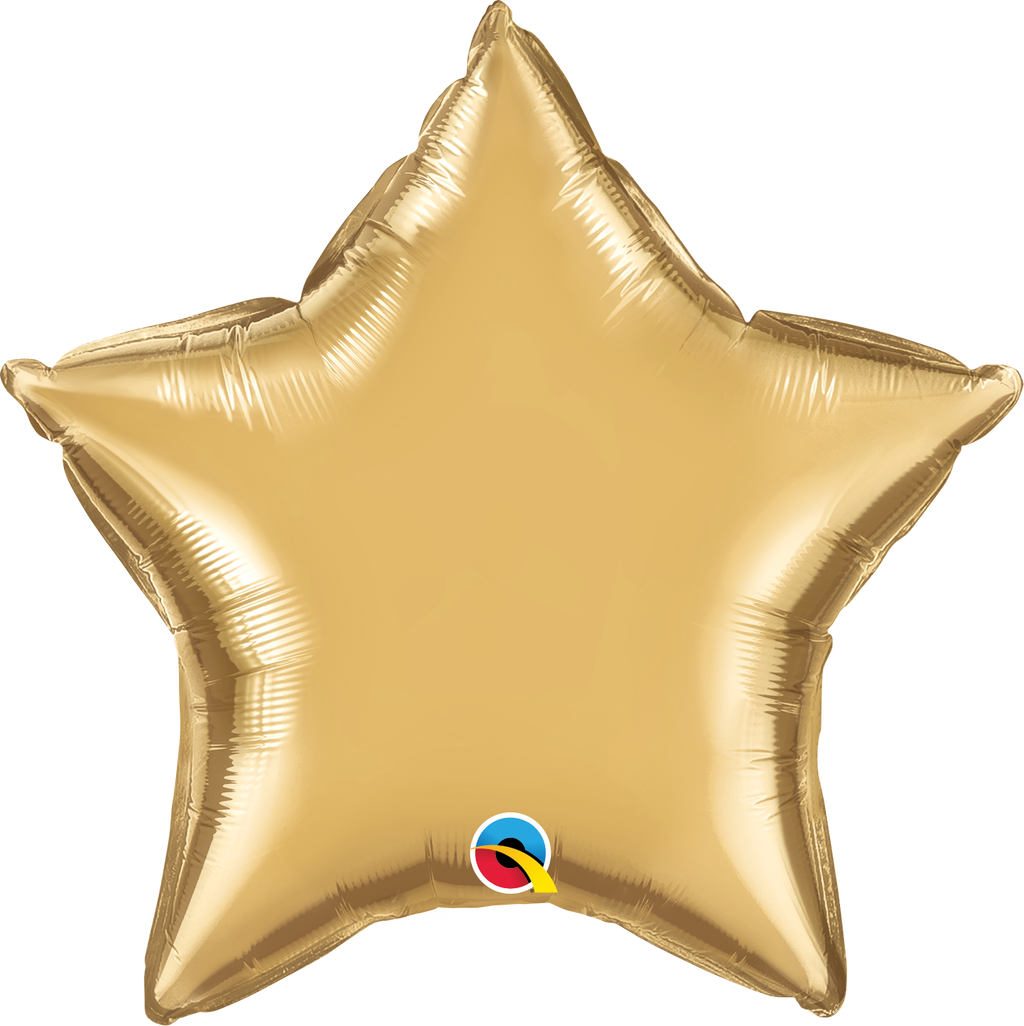 "20"" Chrome Gold Star - Uptown Parties & Balloons"