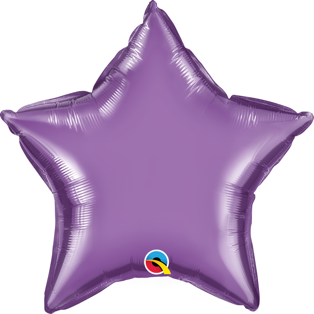 "20"" Chrome Purple Star - Uptown Parties & Balloons"