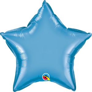 "20"" Chrome Blue Star - Uptown Parties & Balloons"