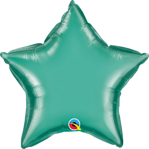 "20"" Chrome Green Star - Uptown Parties & Balloons"