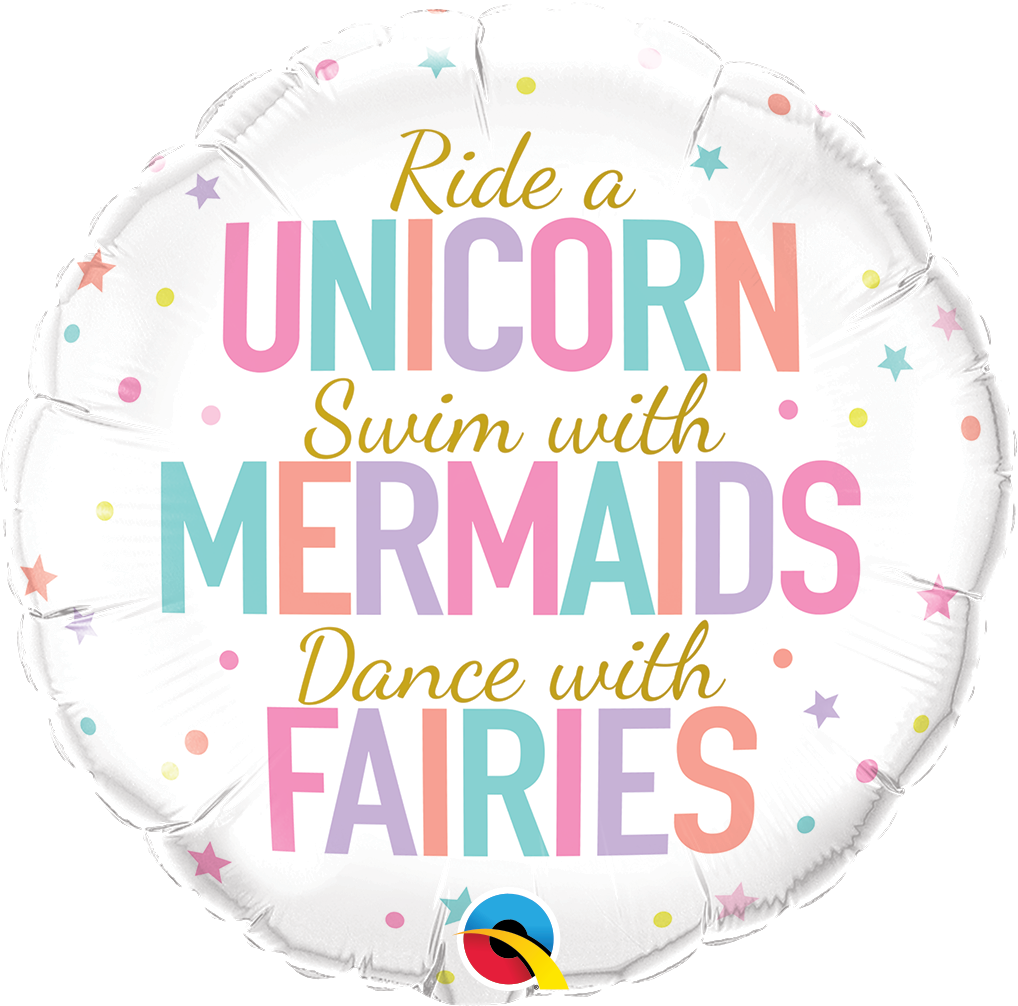 "18"" UNICORN MERMAIDS FAIRIES - Uptown Parties & Balloons"
