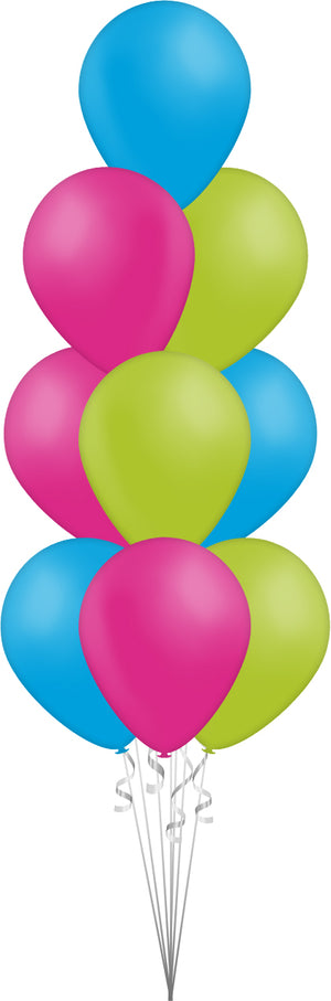 Balloon Bouquet - 9 Latex - Uptown Parties & Balloons
