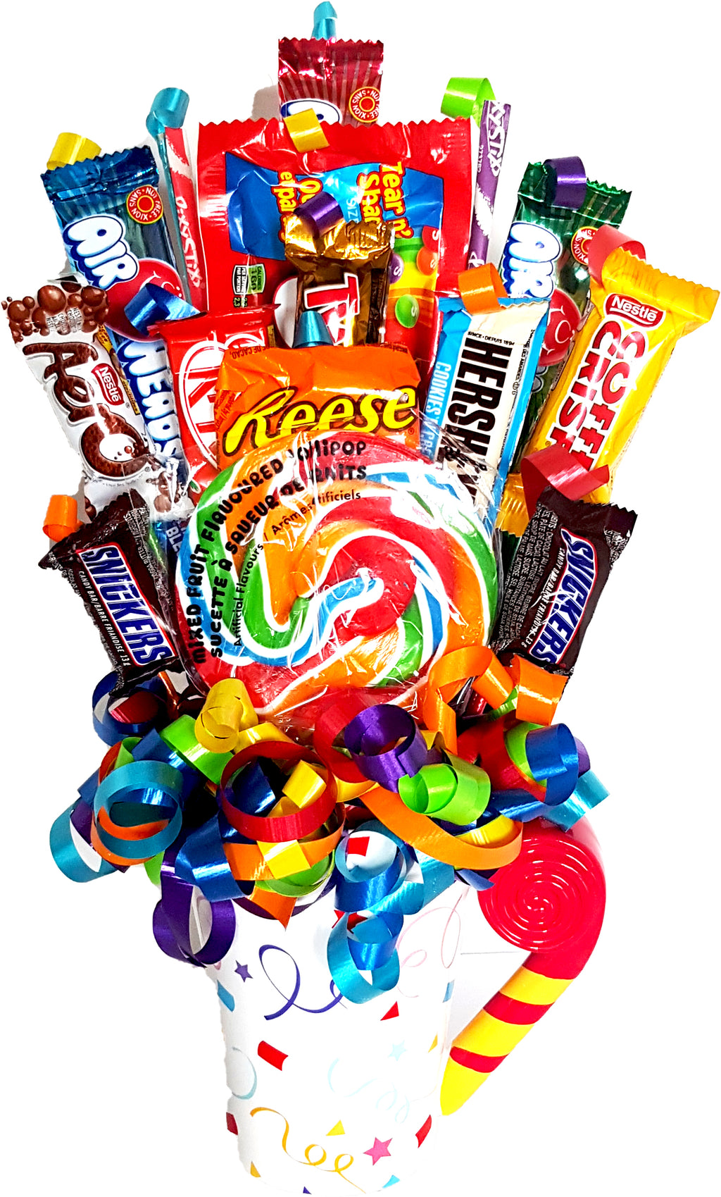 Celebration Mug Candy Bouquet - Uptown Parties & Balloons