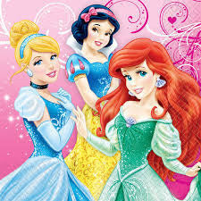Disney Princess Lunch Napkins - Uptown Parties & Balloons