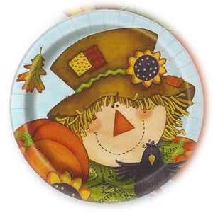 "9"" PLATES HAPPY FALL PARTY"