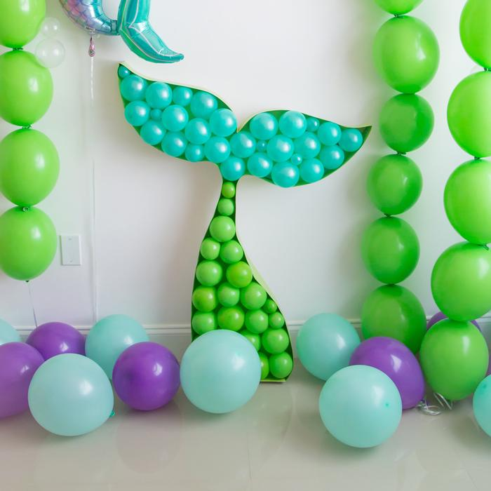 Balloon Mosaic Mermaid Tail - Uptown Parties & Balloons