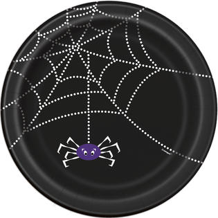 "SPIDER WEB 7"" PLATES - Uptown Parties & Balloons"