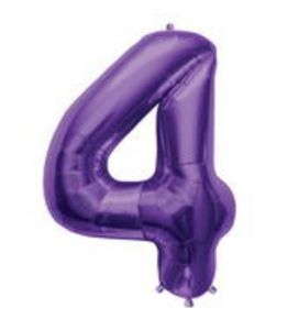 SuperShape 4 Purple - Uptown Parties & Balloons