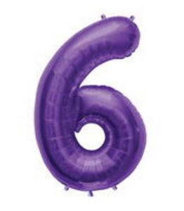 SuperShape 6 Purple - Uptown Parties & Balloons