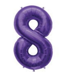 SuperShape 8 Purple - Uptown Parties & Balloons