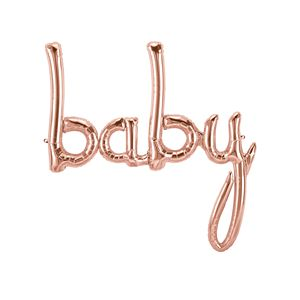 Baby Script, Rose Gold - Uptown Parties & Balloons