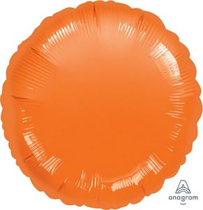 "18"" Metallic Orange Round - Uptown Parties & Balloons"