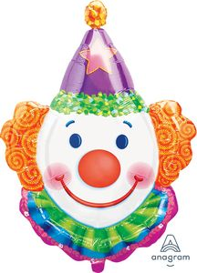 Clown SuperShape - Uptown Parties & Balloons