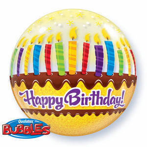 Birthday Candles & Frosting Bubble - Uptown Parties & Balloons