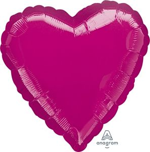 "18"" Metallic Fuchsia Foil Heart"